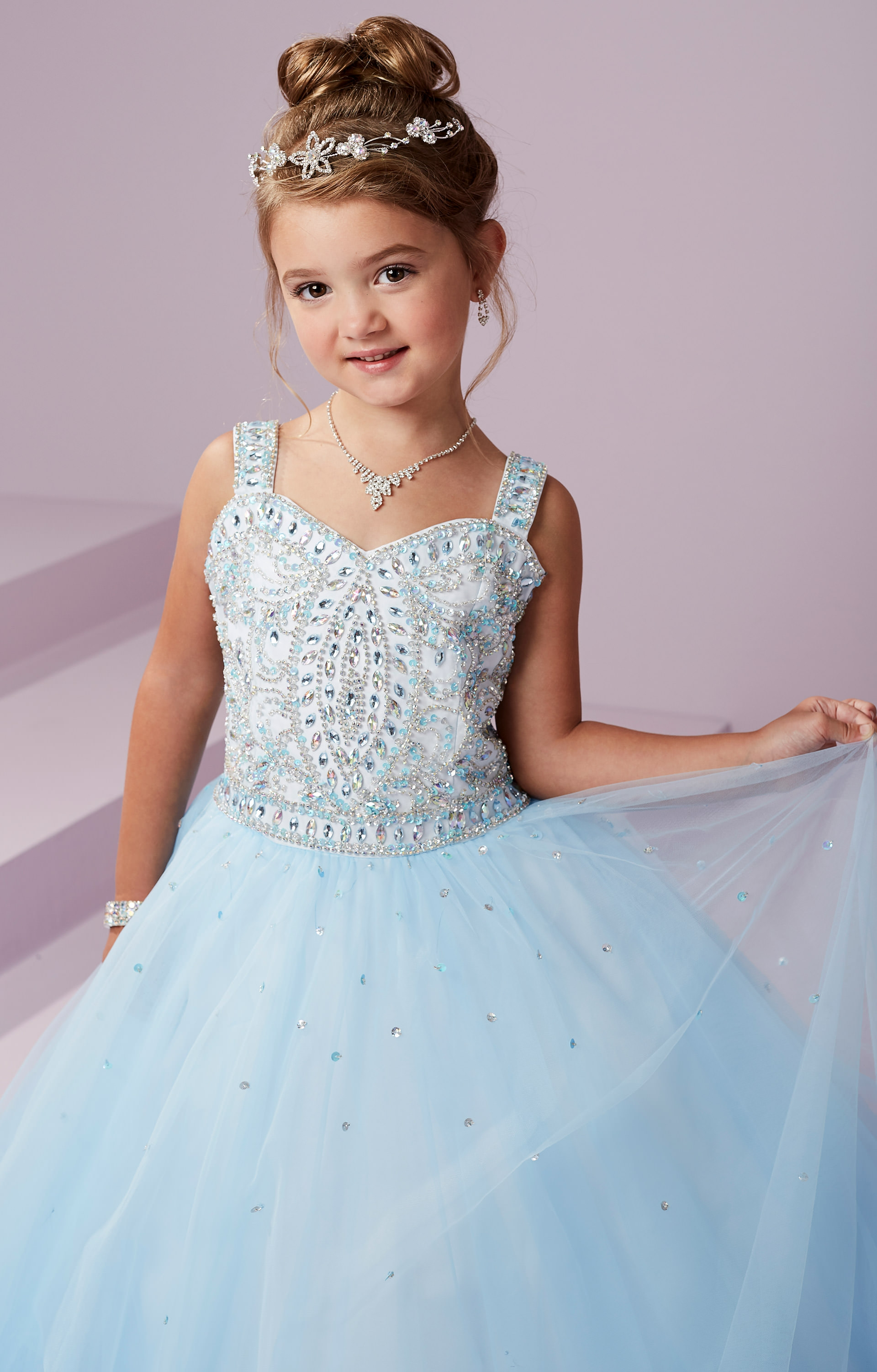 tiffany princess 13494 corset back sparkling tulle ball gown promtiffany princess 13494 picture 1