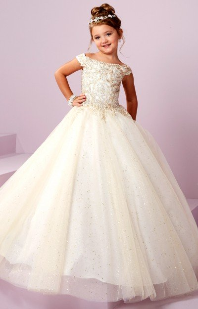 40a68307e87 Halter Beaded Organza Full Tulle Skirt Dress  318.00. Tiffany Princess 13482
